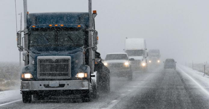 passing trucks in winter black ice auto accidents - Bart Durham